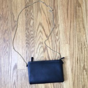 Forever 21 black pouch clutch